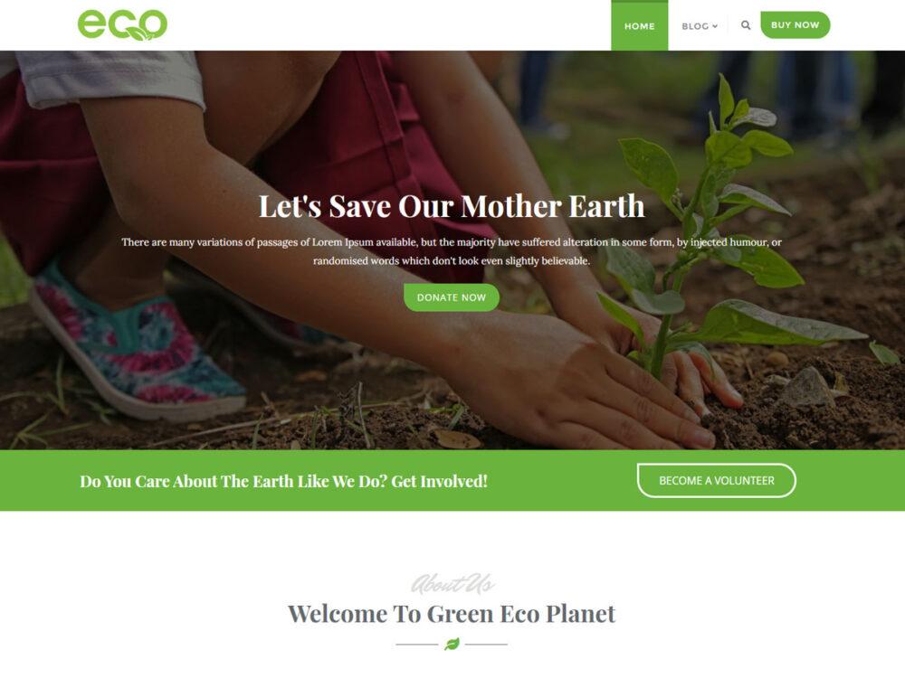 Green Nature WordPress Theme